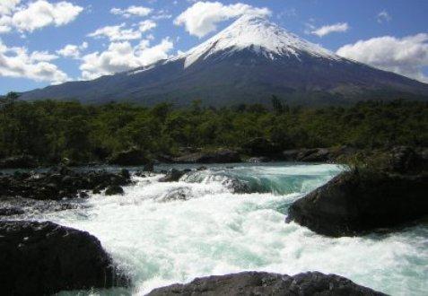 Volcano Osorno and Petrohue waterfalls