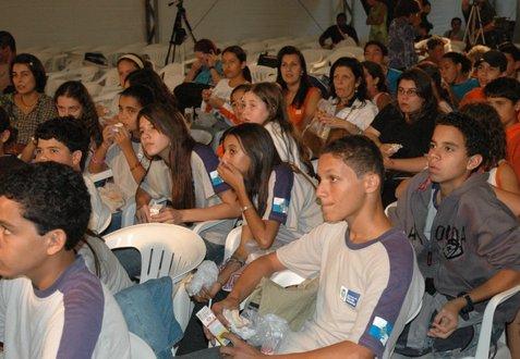 Local schoolchildren in Paraty, Brazil